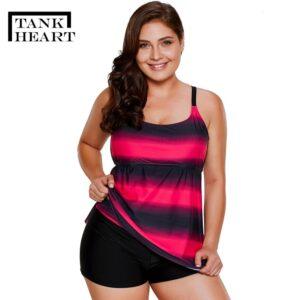 Biquini Plus Size Swimwear Women Tankini Set Two Piece Swimsuit with Shorts Badpak Swim Bathing Suit