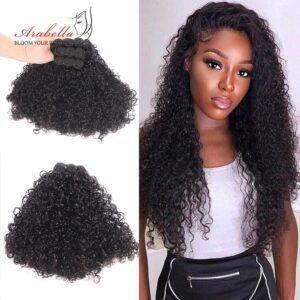 Curly Hair Weave Bundles 1 3 Bundles Natural Color Remy 100 Human Hair Extensions Arabella Double