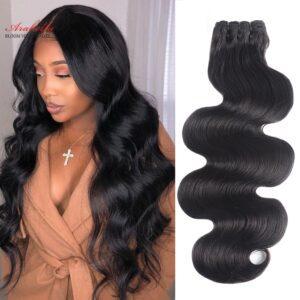 Super Double Drawn Hair Extension Brazilian Body Wave Hair Bundles 100 Human Hair Arabella Natural Virgin