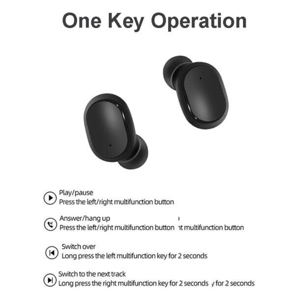Wireless Headphones Bluetooth Earphone Handsfree 5 0 TWS Headset with Mic PK i9S i12 for Redmi 5