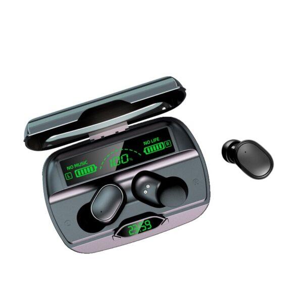Wireless Headphones Bluetooth Earphones 5 1 TWS Headphones with Microphone Power Bank Clock LED Display Stereo 1