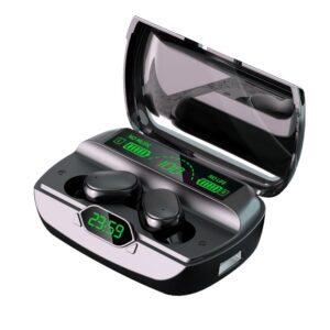 Wireless Headphones Bluetooth Earphones 5 1 TWS Headphones with Microphone Power Bank Clock LED Display Stereo