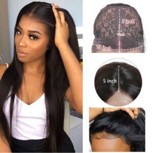 5x5 HD Lace Closure Wigs Brazilian Straight Human Hair Wigs Preplucked 13x1 Wig 28 inch Ali 3