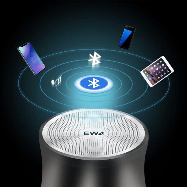 EWA A109Mini Bluetooth Speaker High Def Sound Remote Shutter Take TF Card Player Wireless Metal Portable 3