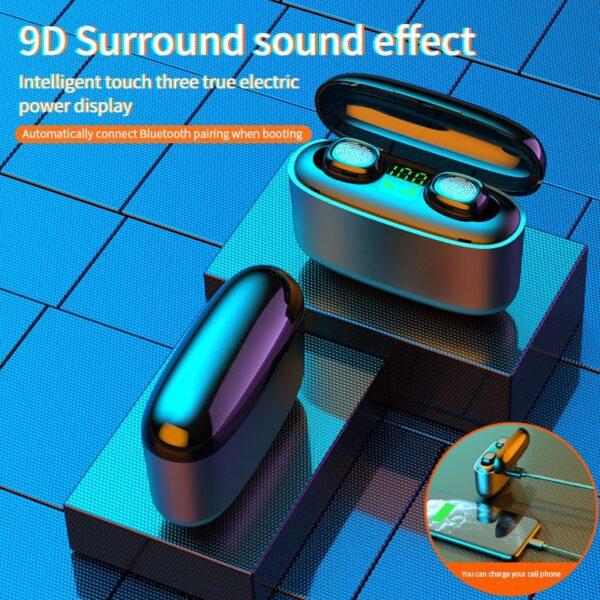G5S TWS Mini Bluetooth earphones Business Earpieces waterproof IPX7 sports earbuds For xiaomi huawei iphone wireless 4