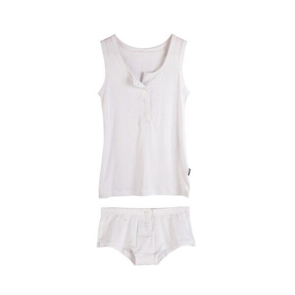 Pjamas Set for Women Femme Cotton Pijamas Sexy Top and Shorts Sleepwear Sleeveless Pajama Ladies Lingerie 5