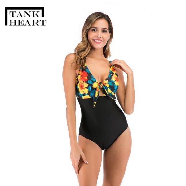Retro Swimsuit One piece Suit Plus Size Swimwear Sexy One piece Swim Suits women s swimwear 5