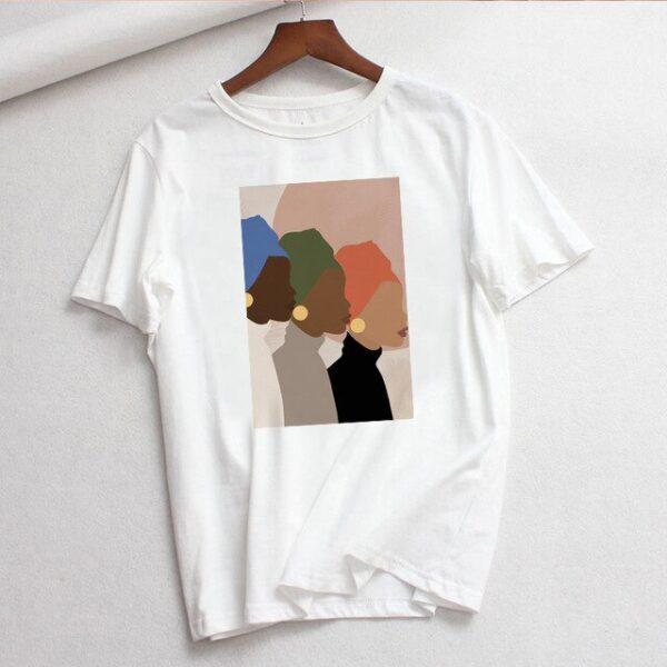 Women T shirt Vintage Style Summer Harajuku Ins Feminist Cartoon Fashion Print Streetwear Loose Tops Casual.jpg 640x640