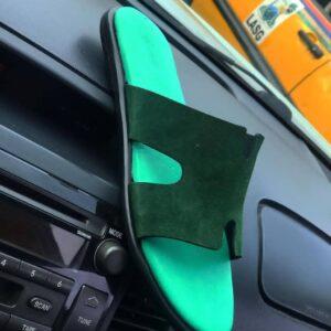 Green suade material 8k