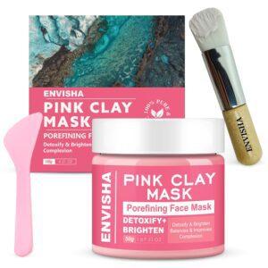 Envisha Australian kaolin Pink Clay Face Mask