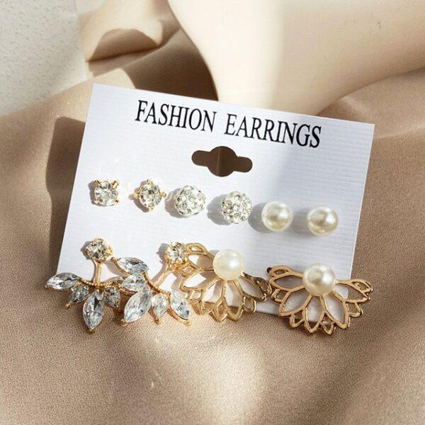 Set of 6 pairs Earrings Studs 1