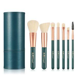 Green Banfi Set of 7pcs Makeup Brushes with Case