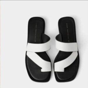 Plain leather slippers 6k