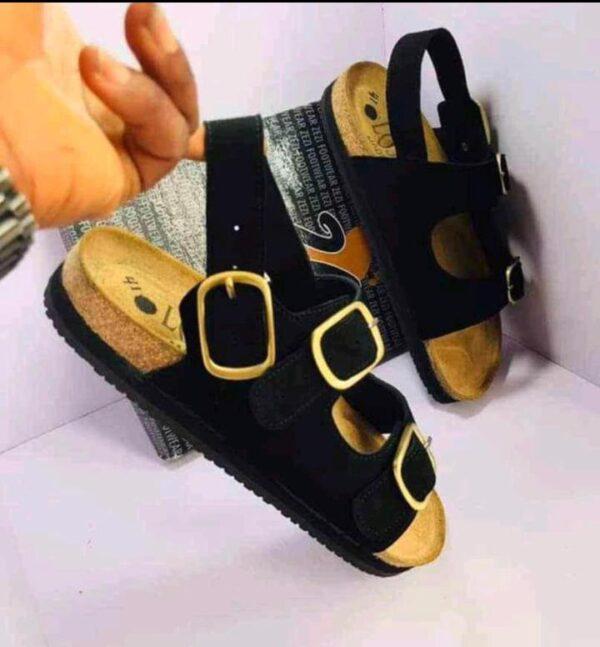 Suwed leathee Birkin stock sandal 9k