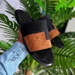 Suwed leather slide 6k