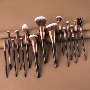 high quality 15pieces big head black handle makeup brush set