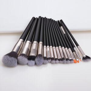 high quality 16pieces big head black handle makeup brush set